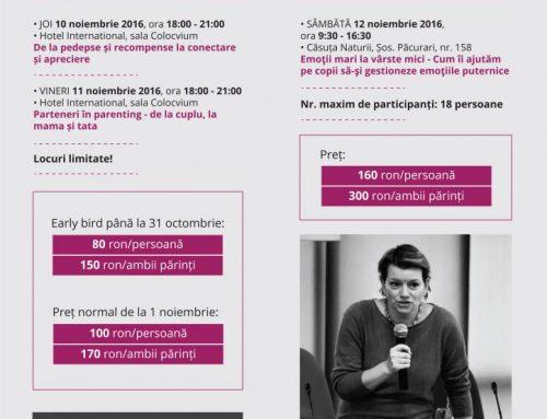 Monica Reu susține 3 eveniment pe tema Comunicării Empatice la Iași