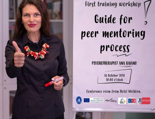 """Workshop despre mentoratul reciproc al tinerilor susținut de psihoterapeutul Ana Băianu în cadrul proiectului """"MyPeerMentor"""""""