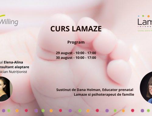Curs Lamaze: sarcina, nașterea și îngrijirea bebelușului – august 2020