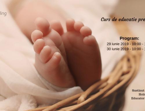 Curs de educație prenatală: 29-30 iunie 2019
